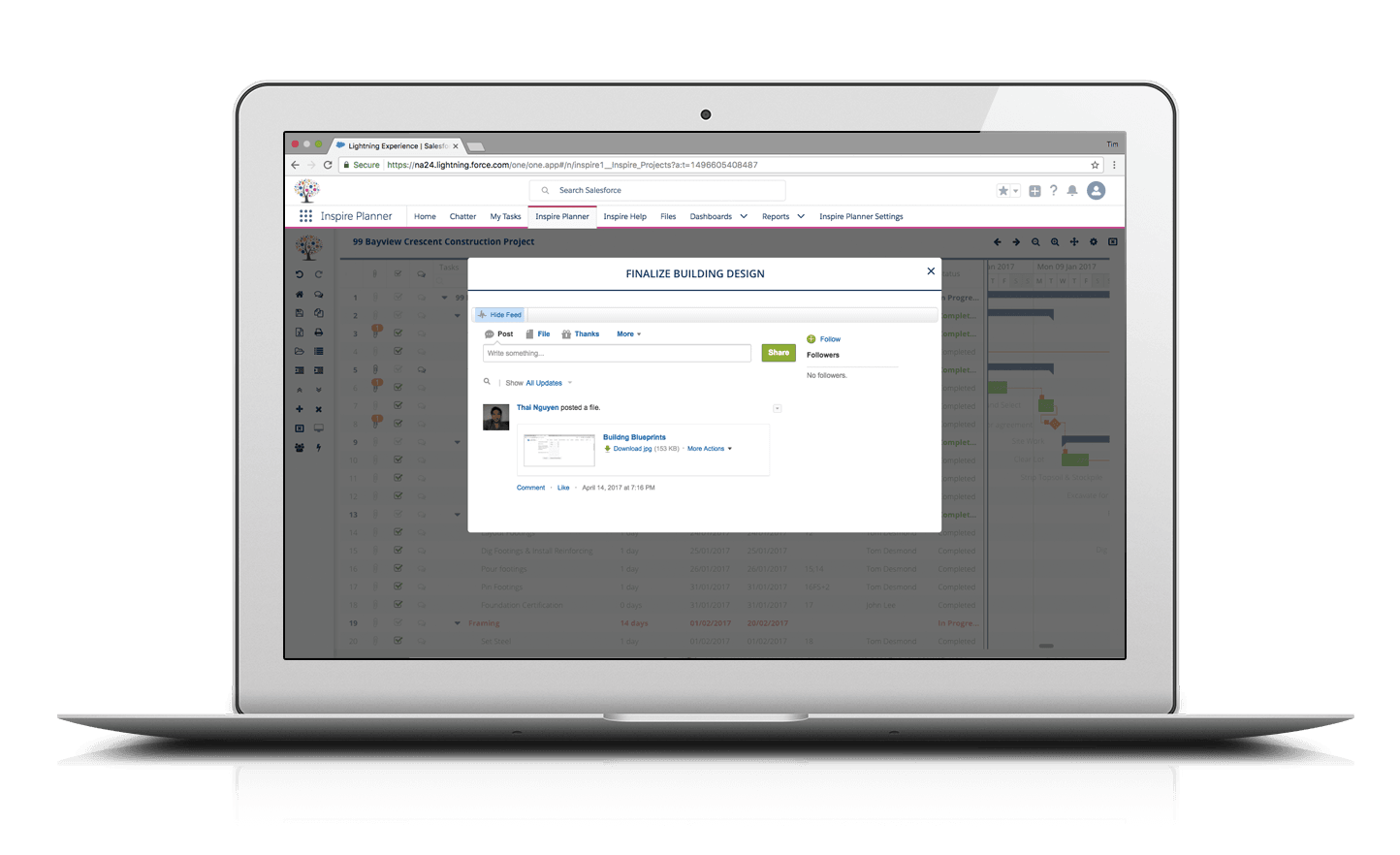 Integration with Salesforce Chatter